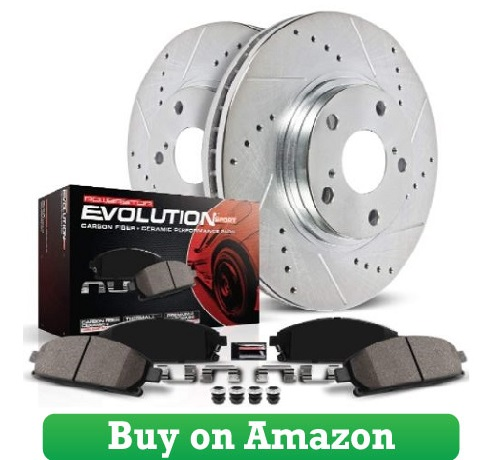 Power Stop K2067 Front Brake Kit with Drilled Slotted Brake Rotors and Z23