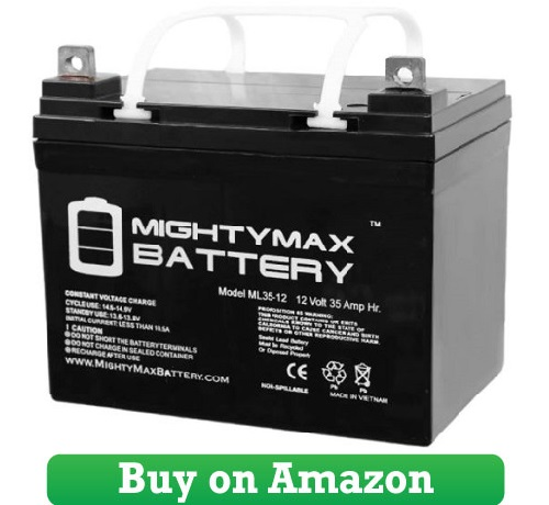 Mighty Max Battery ML35-12 – 12V 35AH U1 Deep Cycle AGM Solar Battery