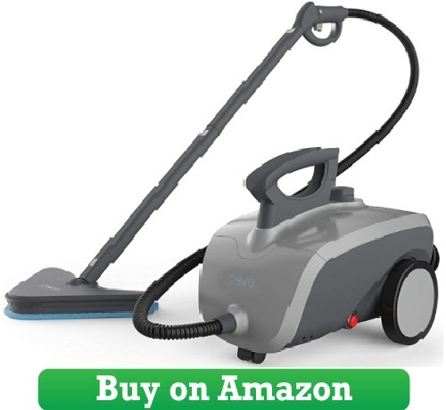 Pure Enrichment PureClean XL Rolling Steam Cleaner – 1500-Watt
