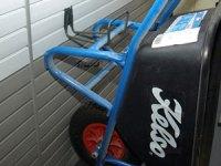 WHEELBARROW HANGERS and holders to hang wheelbarrows