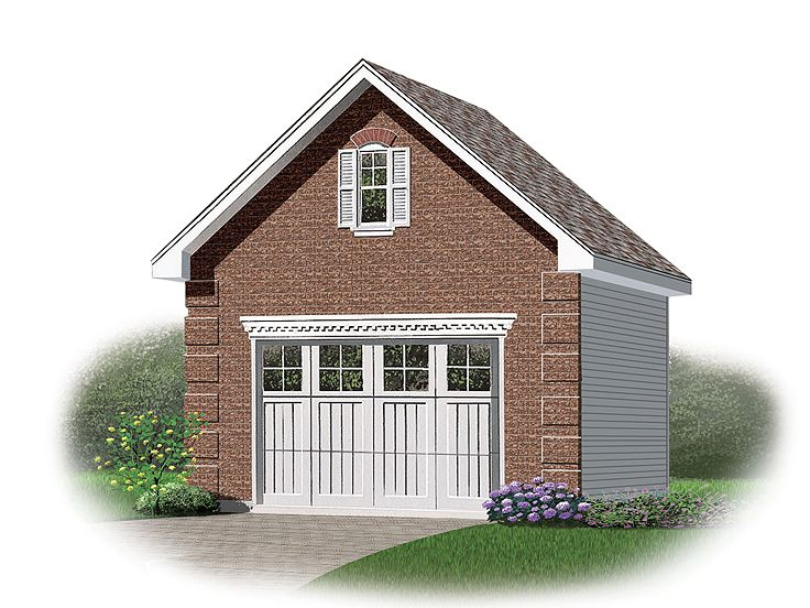 Detached 1-Car Garage Loft Plan