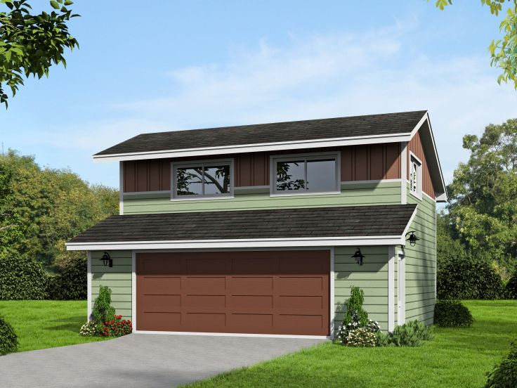 Two-Car Garage Loft Plan # 062G