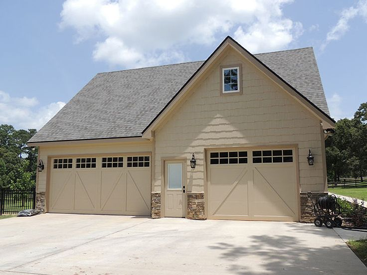 Two-Car Garage Plan With Loft #053G