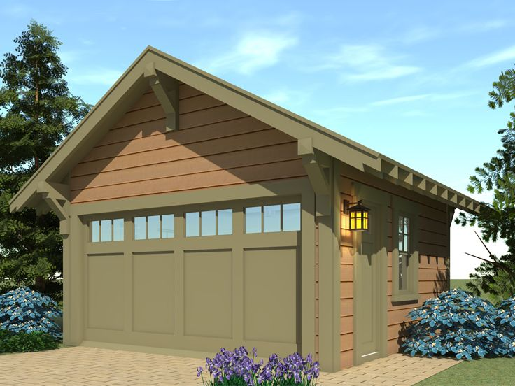 Craftsman-Style 2-Car Garage Plan