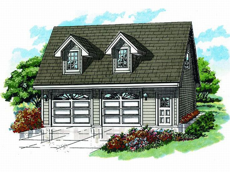 Detached Two-Car Garage Plan With