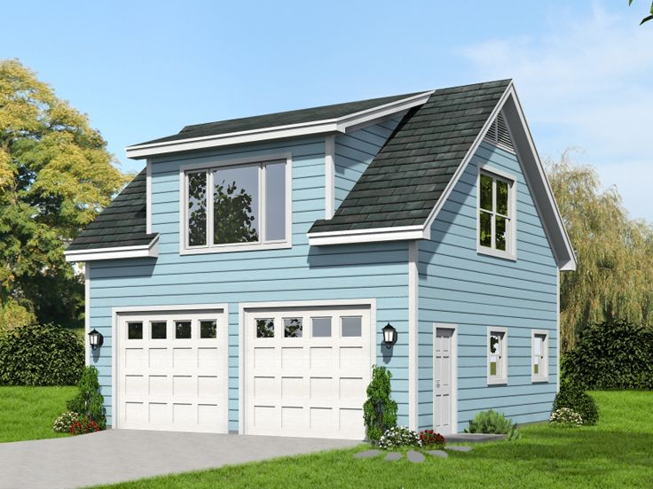 2-Car Garage Loft Plan # 062G-0063