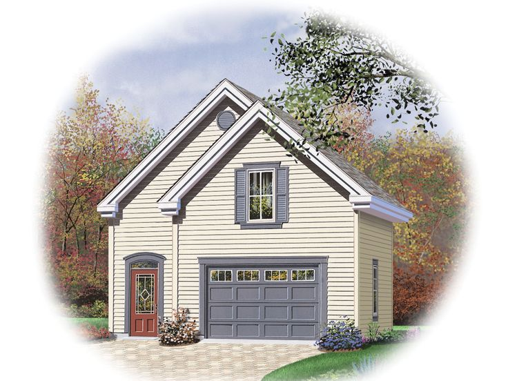 Traditional Two-Car Garage Plan With