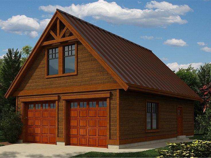 2-Car Garage Workshop Plan With