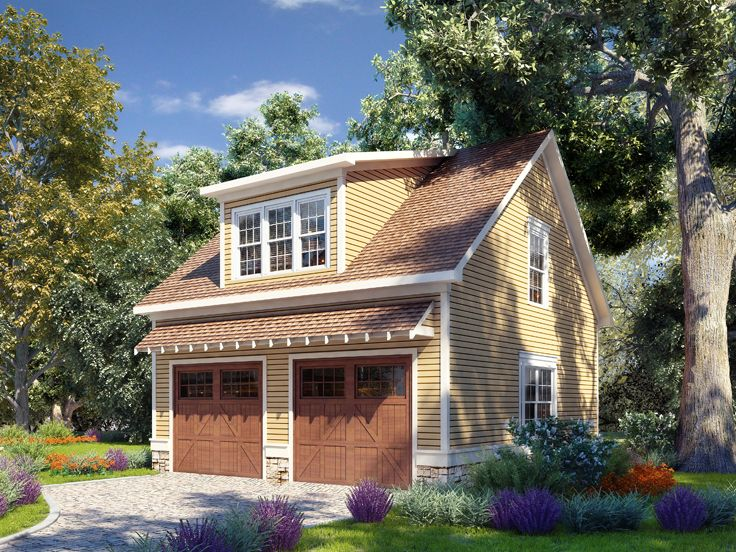Carriage House Plan With Boat