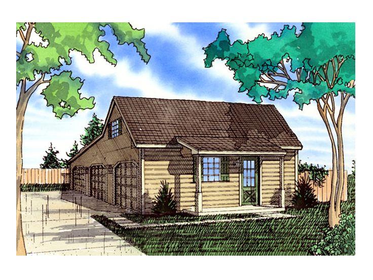 Farmhouse-Style 3-Car Garage Loft