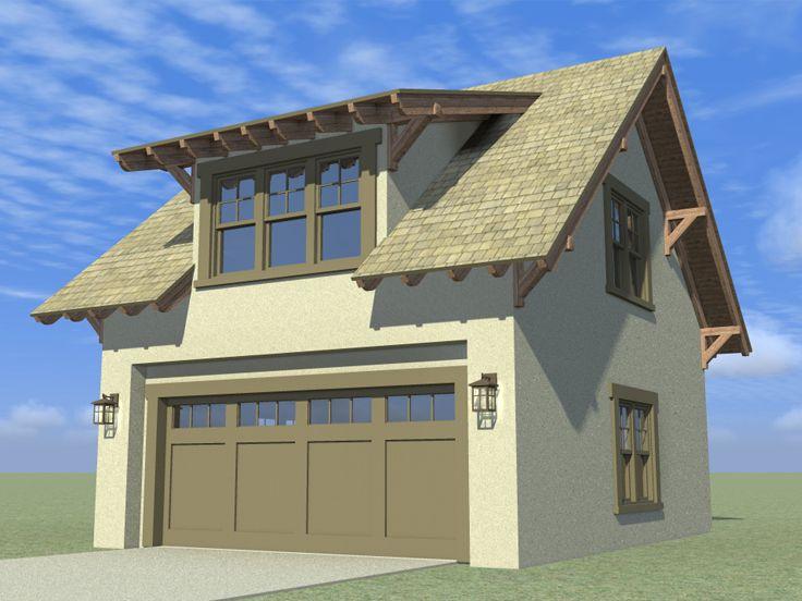 Craftsman-style Garage Loft Plan #052G