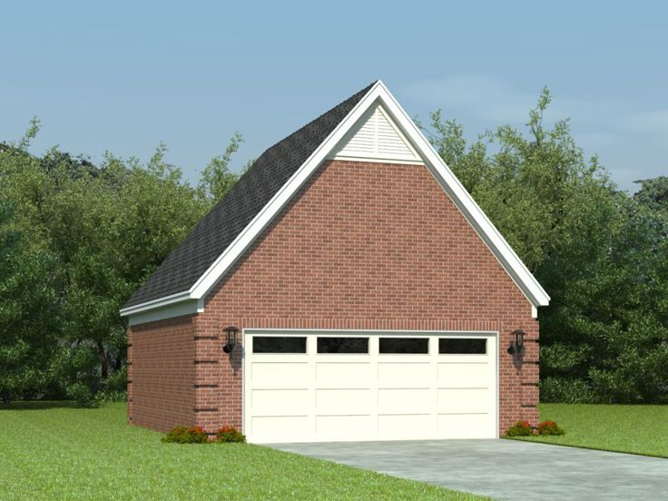 Two-Car Garage Loft Plan # 006G-0032