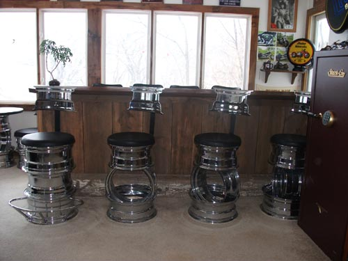 Hot Rod Barstools Classic Set