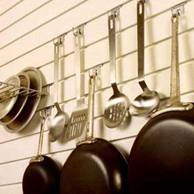 Slatwall Panel Kitchen Organization