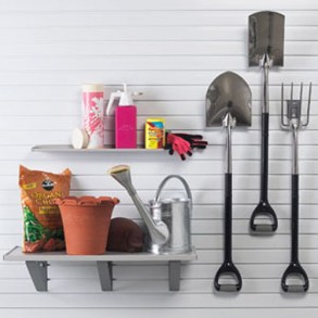 Garden Tool Organization on Slatwll Panels