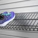 HandiWall Shoe and Boot Rack in use on slatwall panels