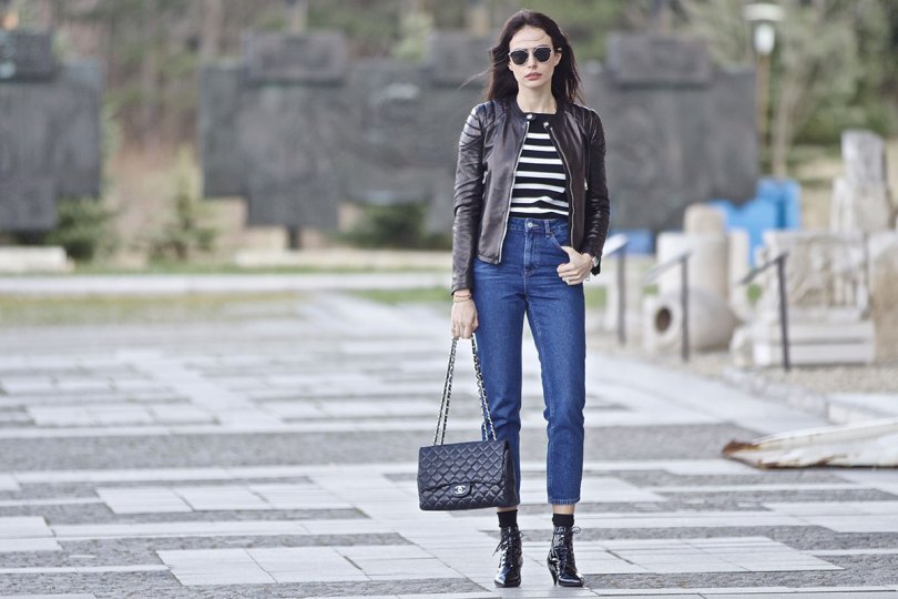 The_Garage_Starlets_Katia_Peneva_Popov_Gucci_Biker_Jacket_Zara_Topshop_Mom_Jeans_Chanel_Bag_Saint_Laurent_Ankle_Boots_Christian_Dior_Sunnglasses_02