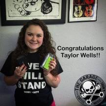 Taylor Wells was the winner of our giveaway drawing 7/24/2015