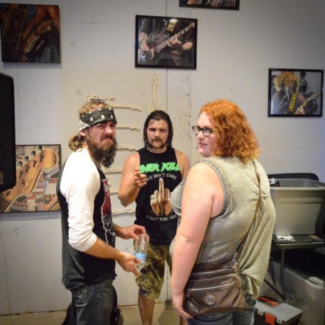 Sophia S with Cole (The Black Order, Drummer) and Bowen (The Black Order, Bass)