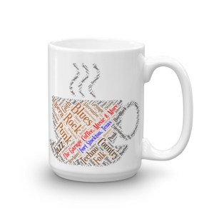 Coffee & Music Mug (Left-handed)