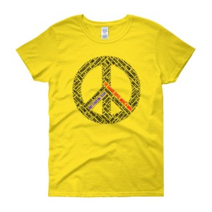 Women's short sleeve Peace t-shirt (light)