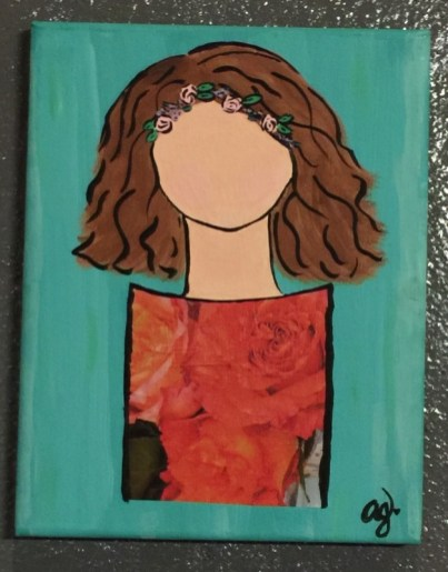 """Armanda Gonzalez"""" Bloom where you are Planted"""" $20 SOLD"""