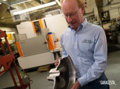 Philip shows off sectioned wheel