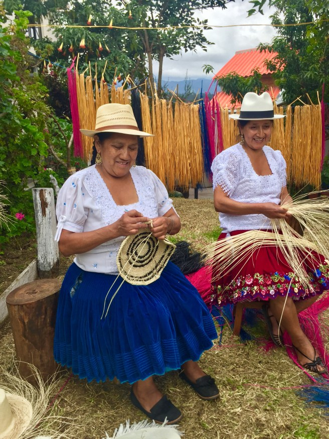 Two of Yosuzi's talented craftswomen in Ecuador