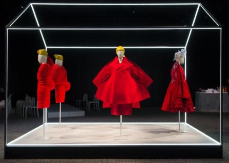 Photo 3 Caption: Rei Kawakubo forComme des Garçons objects on display at The Met'sRei Kawakubo/Comme des Garçons: Art of the In-Betweenadvance press event.