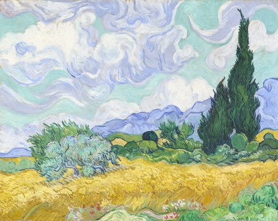 Vincent van GoghDutch 1853–1890A wheatfield, with cypresses early September 1889 Saint-Rémyoil on canvas72.1 x 90.9 cmNational Gallery,LondonBought, Courtauld Fund, 1923 (NG3861)© The National Gallery, London