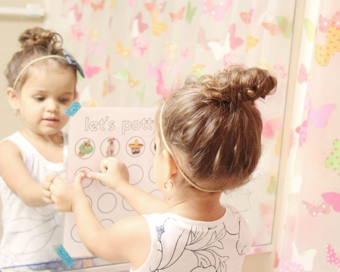how to potty train in three days + free printable potty training chart