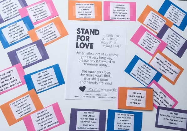 PROJECT STAND FOR LOVE - random acts of kindness sarah adams wire and honey