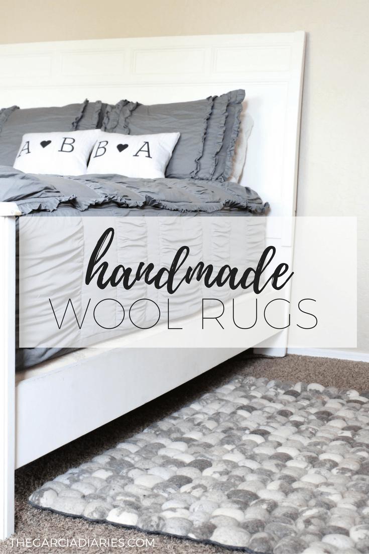 handmade wool rugs - master bedroom