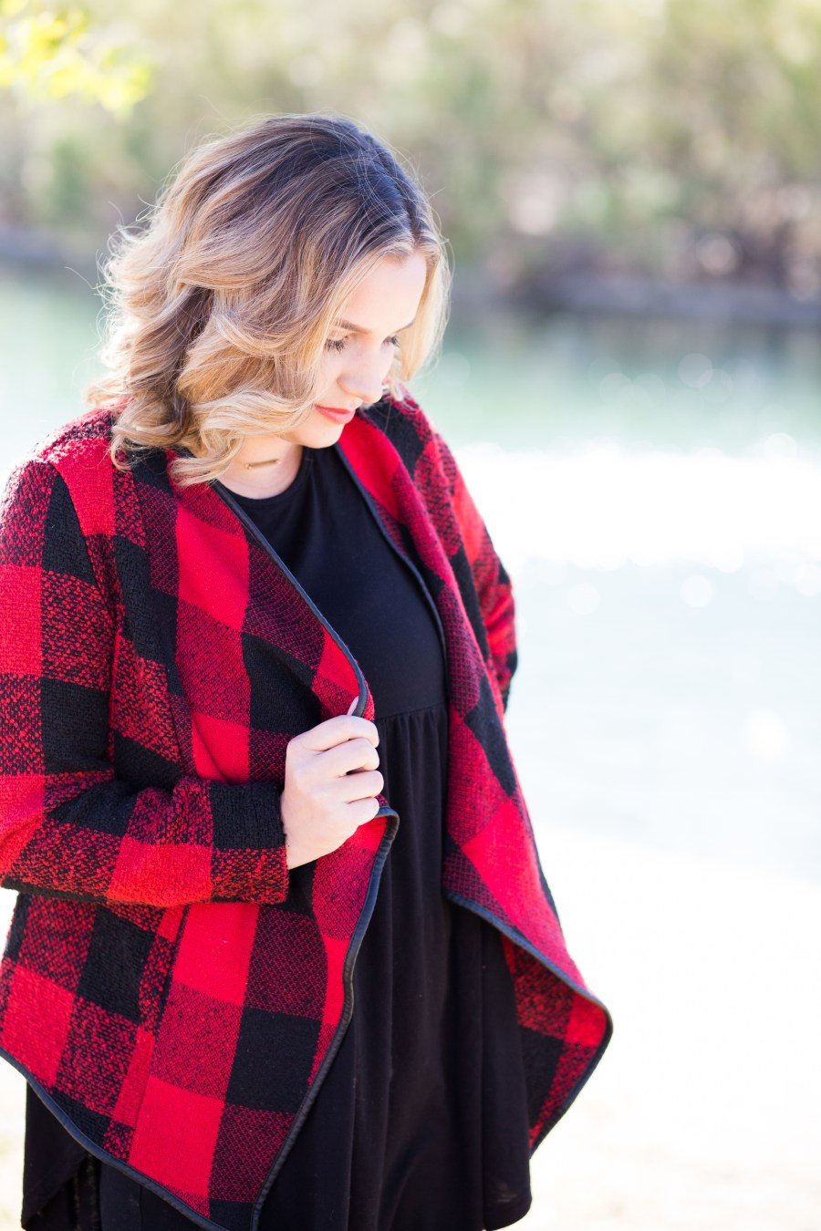 The Holidays with Casi // cupcakeMAG // RubyClaire Boutique Christmas collection // red and black blazer