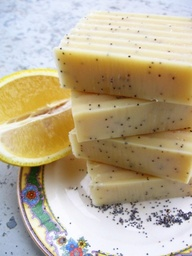 Poppy seed lemon soap