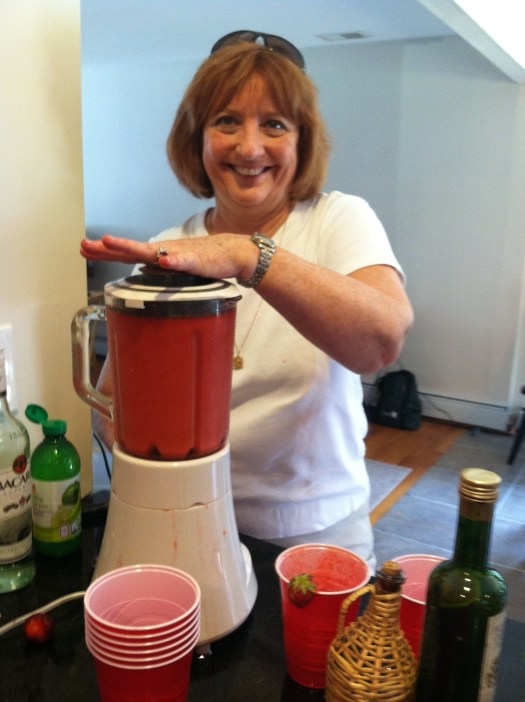 Making daiquiris- another important job!