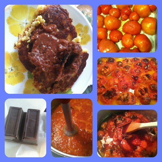 The process of making tomato jam