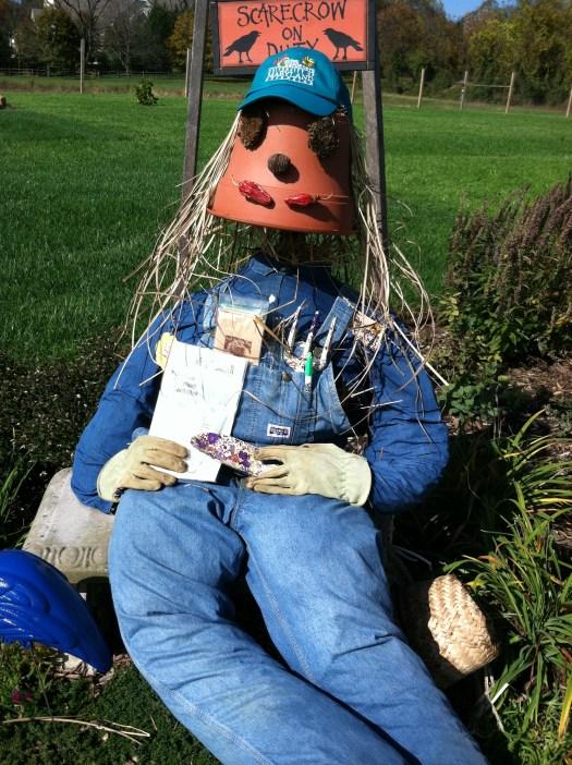 Creative stuffed scarecrow