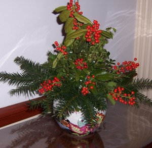 Simple holly arrangement