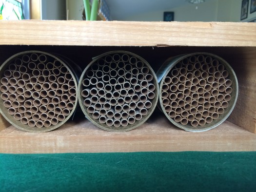 Mason Bee house with tubes