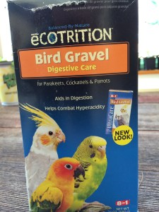"Parakeet gravel has grit, oyster shells, and charcoal which all retards ""damping off'"