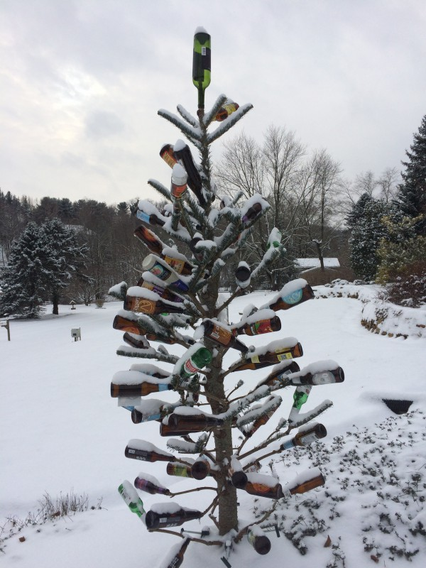 bottle tree in snow - Old Christmas Tree