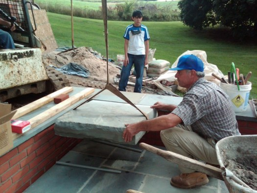 Placing the base of the water feature