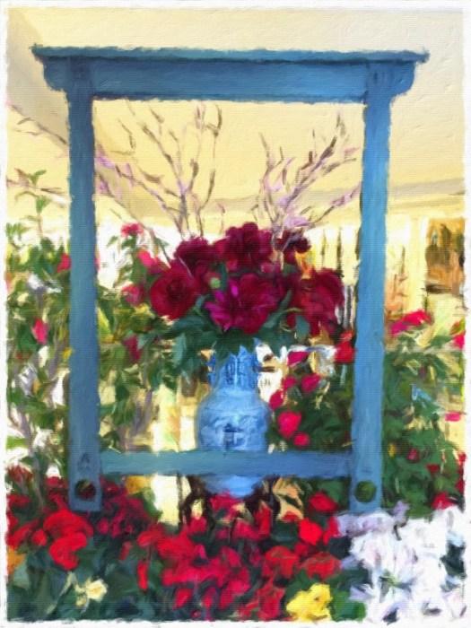 Framed works of floral art