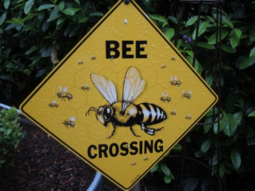 Bee crossing sign