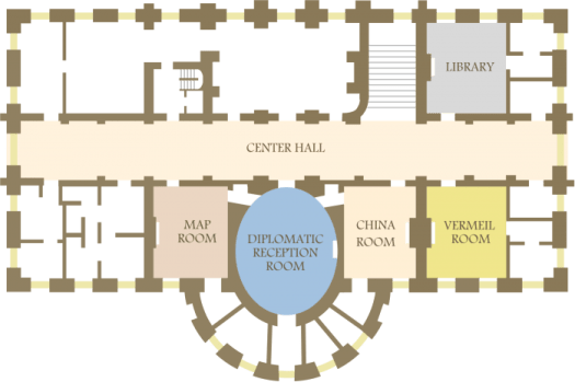 Ground floor of the White House, from Wikipedia