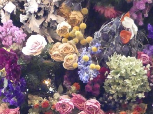Some of the dried flowers used