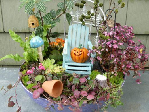 Halloween miniature garden