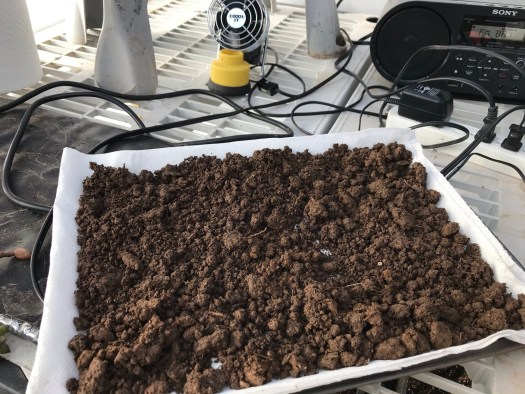 A soil test includes samples from different areas, mixed up and dried
