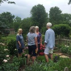 More garden talk in the herb garden